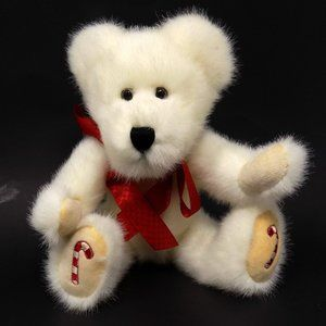 Boyds Bears Peppermint P Bear Teddy White Jointed